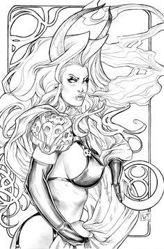 Lady Death Zodiac Taurus lines by ToolKitten.deviantart.com on @deviantART