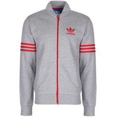 adidas Originals Mens Full Zip Fleece Tracksuit Top Track Jacket - Gray in  Clothing 9a6c92cdf7f6