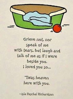 Grieve not, nor speak of me with tears, but laugh and talk of me as if I were beside you. I love you so . 'Twas heaven here with you. Pet Loss Grief, Loss Of Dog, I Love Dogs, Puppy Love, Love You, Dog Loss Quotes, Grief Dad, Miss My Dog, Pet Remembrance