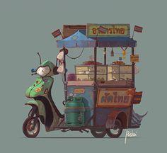 Game art on Behance Asian food. Game Art for Behance Bg Design, Prop Design, Food Illustrations, Illustration Art, Whatsapp Wallpaper, Modelos 3d, Thai Art, Dibujos Cute, Environment Concept Art