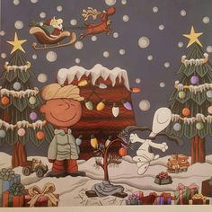 Charlie Brown and Snoopy Peanuts Christmas, Charlie Brown Christmas, Charlie Brown And Snoopy, Christmas Cross, Winter Christmas, Vintage Christmas, Photo Images, Snoopy And Woodstock, Peanuts Snoopy