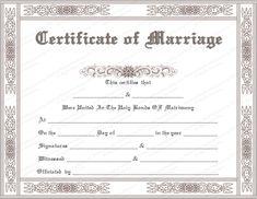 13 best marriage certificates keepsake marriage certificates images