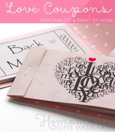 Free printable love coupons valentine gift