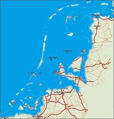 This is how The Netherlands would be without dykes Holland Map, Amsterdam Holland, Geography Map, Alternate History, Old Maps, Wild Nature, Historical Maps, World History, Countryside