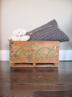 Vintage Rustic Coca Cola Wood Crate Home Decor by CocoAndBear, $40.00