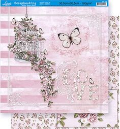 Papel Scrapbook Duplo Litoarte SD376