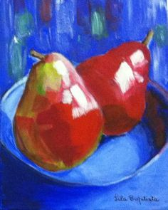 Pears in bowl, Lila, Watercolour End Of Year Party, Art Party, Pears, Artist At Work, Watercolour, Art Ideas, Student, Paintings, Pen And Wash