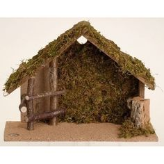 Medium sized Italian stable makes a great starter piece for your 5 inch scale nativity set. Made of wood and trimmed with bark and moss. Select from our nativity figurines sold separately to create our custom Christmas nativity scene. Christmas Crib Ideas, Christmas Home, Christmas Crafts, Christmas Printables, Christmas Decorations, Nativity Stable, Christmas Nativity Scene, Nativity Scenes, Paint Colors For Living Room
