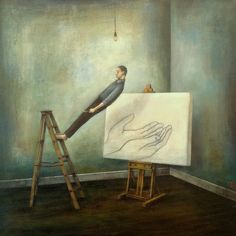 Duy Huynh artwork - selected archives from the Charlotte NC based, Vietnamese born artist. Poetic and contemplative acrylic paintings. Illustrations, Illustration Art, Magritte, Human Condition, Surreal Art, Beautiful Paintings, Oeuvre D'art, Art Images, Les Oeuvres