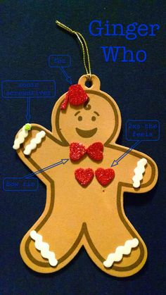 11th Doctor Gingerbread Man Ornament ❤️❤️