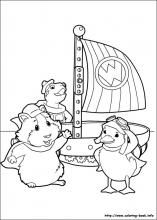 wonder pets colouring pages