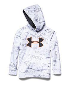 9db1e7817ca Amazon.com   Under Armour Youth Camo Big Logo Hoody Ridge Reaper Camo Snow    Stealth Gray Large   Sports   Outdoors