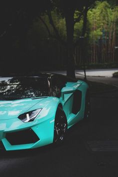 Cool Tiffany Blue #Lamborghini Aventador Closeup /volleygirl3716/