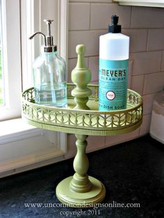 Upcycled tiered tray! this is super awesome! I am making this asap!! Just need to head back to goodwill....second time today