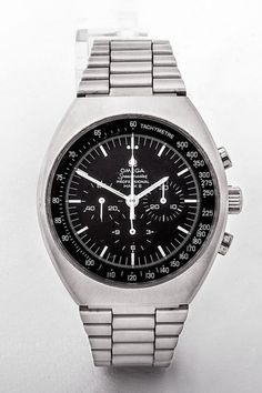 Gents stainless steel manual 17 jewel Omega Speedmaster Pro Mark II watch with round black dial. Gents Watches, Rolex Watches, Mark Ii, Vintage Watches For Men, Wedding Summer, Omega Speedmaster, Dublin Ireland, Luxury Jewelry, Summer Outfit