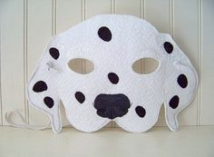 We spot the most adorable Dalmatian mask. #etsy #halloween