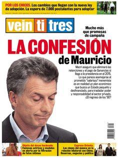 Revista Veintitrés, critica a Macri