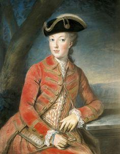 Marie Antoinette in Hunting Attire, Joseph Krantzinger. 1771