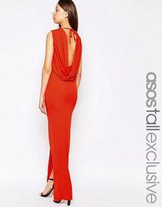 ASOS TALL Sleeveless Cowl Back Maxi Dress – Nude $20.00