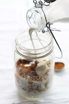 cinnamon roll overnight oats ❥