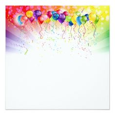 Shop Colorful balloons, ribbons and confetti created by StoreElida. Paper Background Design, Banner Background Images, Happy Birthday Rainbow, Balloon Ribbon, Colourful Balloons, Colorful, Confetti Cards, Radha Krishna Wallpaper, Birthday Background