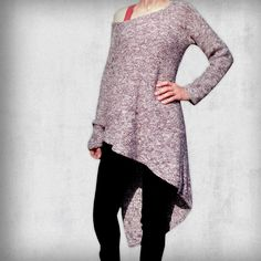 Purl Stitch, Casual Sweaters, Knitwear, Jumper, Tunic Tops, Comfy, Etsy Shop, Pullover, Purple