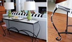 Nothing hampers decor quite like wires that have to be plugged in across the room. Tiny adhesive hooks help camouflage potential tangles by attaching cords to the back of furniture. See more at Hi Sugarplum! »