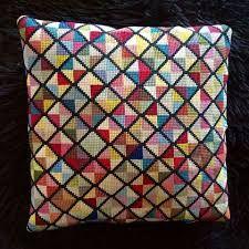 Cross Stitch Pillow, Cross Stitch Samplers, Cross Stitching, Cross Stitch Embroidery, Hand Embroidery, Cross Stitch Patterns, Modern Tapestries, Rug Inspiration, Needlepoint Pillows