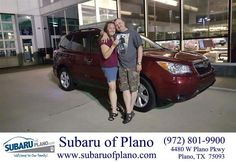 https://flic.kr/p/JAMMxE | Happy Anniversary to Kimberly & Ricky on your #Subaru #Forester from Vickie Belt at Subaru of Plano! | deliverymaxx.com/DealerReviews.aspx?DealerCode=K252