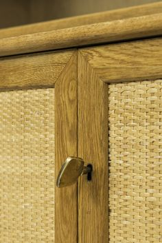 Alf Svensson sideboards in oak and woven cane at Studio Schalling