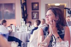 Wedding guest during the speeches. Photography by one thousand words wedding photographers