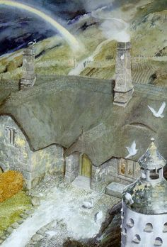 Alan Lee - Lord of the Rings, the Home of Tom Bombadil Alan Lee, Jrr Tolkien, Tolkien Books, Legolas, Gandalf, Lotr, O Hobbit, Hobbit Land, Into The West