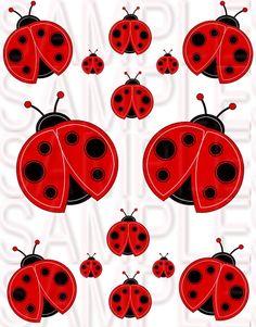 Ladybug Ladybugs Girls Bedroom Waterslide Decal by kristibroadbent, $6.20