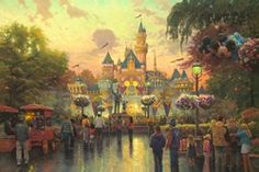 Thomas Kinkade's paintings of Disney movies etc. are absolutely beautiful.  If you study the ones based on the movies you'll find most characters are in the paintings!