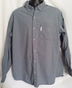 Columbia Long Sleeve Button Front Multi-color Plaid Cotton Shirt Size XL #Columbia #ButtonFront
