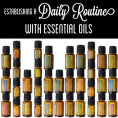 Establishing a Daily Routine With Essential Oils