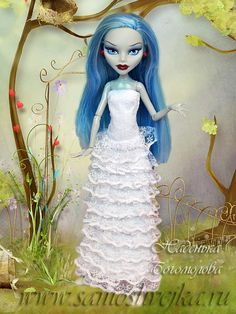 свадебное платье для куклы