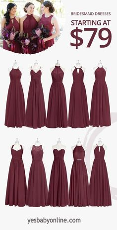 Shop for a large variety of cabernet bridesmaid dresses at Azazie. With bridesmaid dresses from Azazie, you are sure to find a cabernet bridesmaid dress for the perfect look for your wedding. Burgundy Bridesmaid Dresses Long, Red Bridesmaids, Bridesmaid Dresses With Sleeves, Wedding Bridesmaid Dresses, Burgundy Dress, Taupe Bridesmaid, Tiffany Blue Bridesmaids, Winter Wedding Bridesmaids, Bohemian Bridesmaid