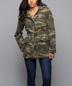 Look at this #zulilyfind! Olive Now You See Me Hooded Anorak #zulilyfinds
