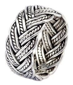 10mm Oxidize Rope Handcraft Weaving Band Ring in 925 Ster... https://www.amazon.com/dp/B01J7HKESY/ref=cm_sw_r_pi_dp_x_jWgRxb31VRM66