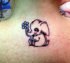 Really Cute Elephant Tattoo Design