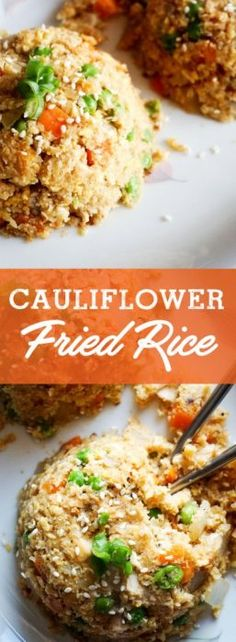 Cauliflower fried rice with chicken. Low carb cauliflower fried rice.