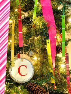 paint chip ornaments