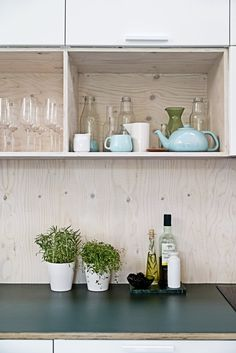 Small Kitchen Ideas - You've got a little kitchen area, we've got concepts to earn it better - consisting of ideas, pictures, and also storage options. Cabin Interiors, Wood Interiors, Plywood Interior, Turbulence Deco, Cheap Bathrooms, Linoleum Flooring, Target Home Decor, House Inside, Tiny House
