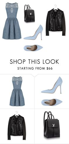 """jeans dress"" by projekttrool on Polyvore featuring moda, Oasis, Norma J.Baker i Yves Saint Laurent"
