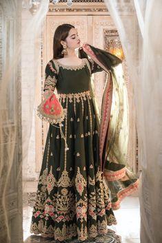 Pakistani Wedding Dresses, Pakistani Dress Design, Indian Attire, Indian Outfits, Indian Designer Outfits, Designer Dresses, Bridal Outfits, Bridal Dresses, Shadi Dresses