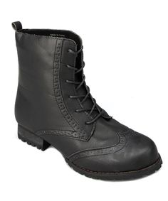 Another great find on #zulily! Shoes of Soul Black Lace-Up Boot by Shoes of Soul #zulilyfinds