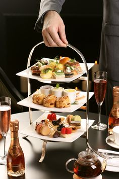 High tea at the Pierre Hotel, 5th Avenue