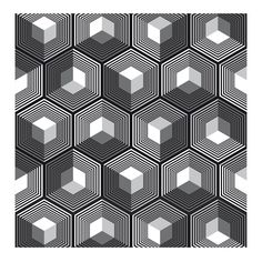Hexagonal - from grasshoppermind Optical Illusions Drawings, Art Optical, Opt Art, Graph Paper Art, Composition Art, Tatoo Art, Tattoo, Image Of The Day, Illusion Art