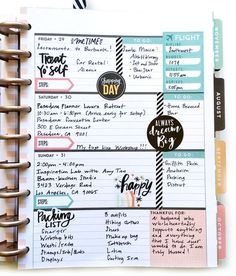 full July week in the Rose Gold Horizontal Happy Planner™️ by mambi Design Team member Theresa Doan | me & my BIG ideas